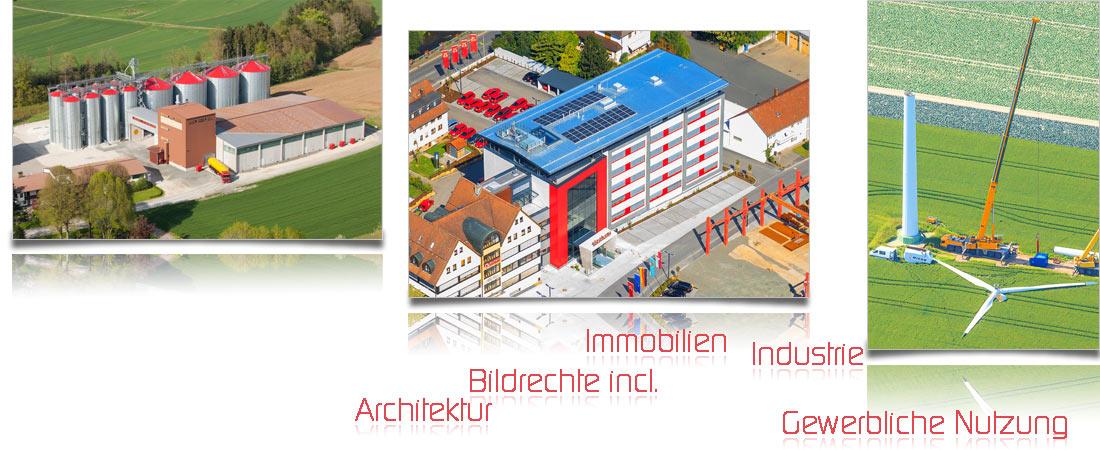 Gewerbe Industrie Luftaufnahmen Luftbild Bildrechte Architektur